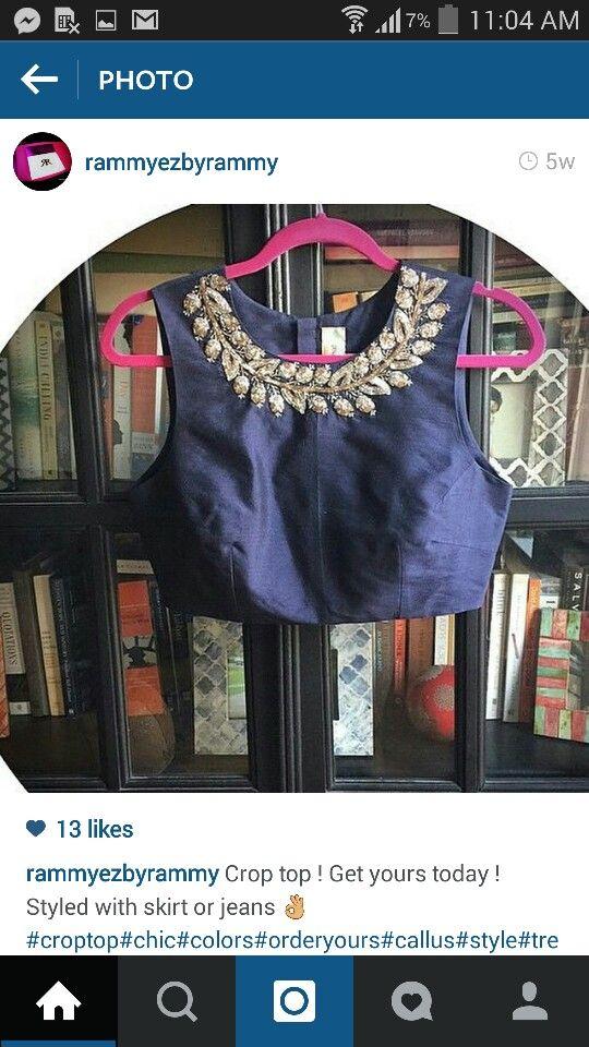 embellished Blouse/CropTop