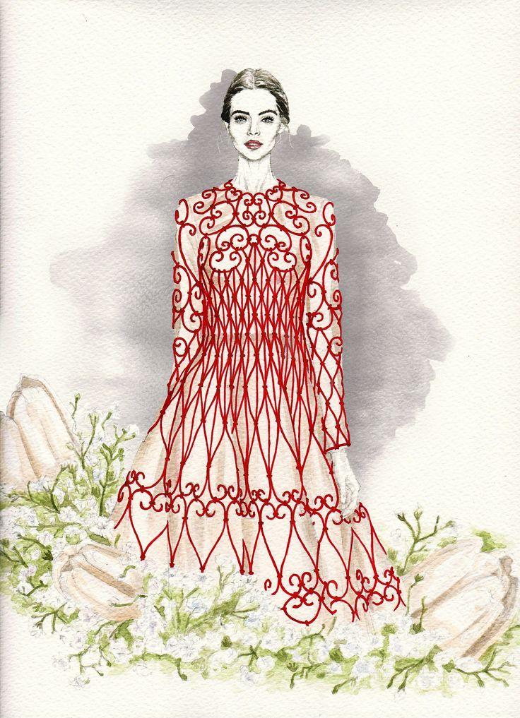 VALENTINO ss 13 | elenapaoletti_illustrations | watercolor