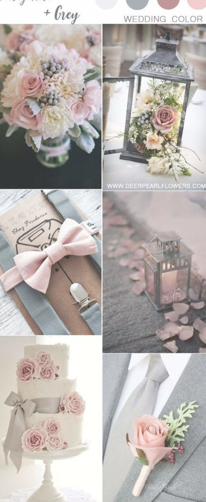 13++ Dusky pink and grey wedding theme ideas