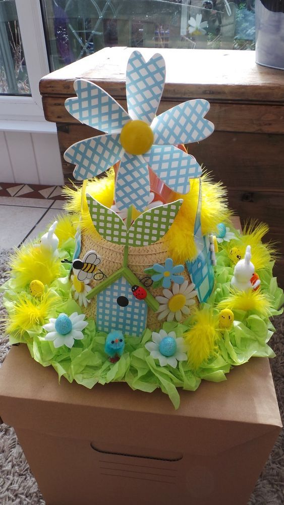 HANDMADE EASTER BONNET COUNTRY GARDEN DESIGN
