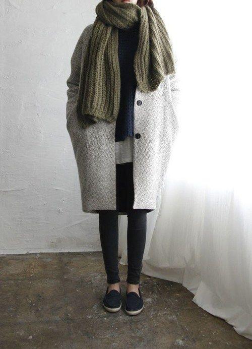 oversized coat + scarf                                                                                                                                                                                 More