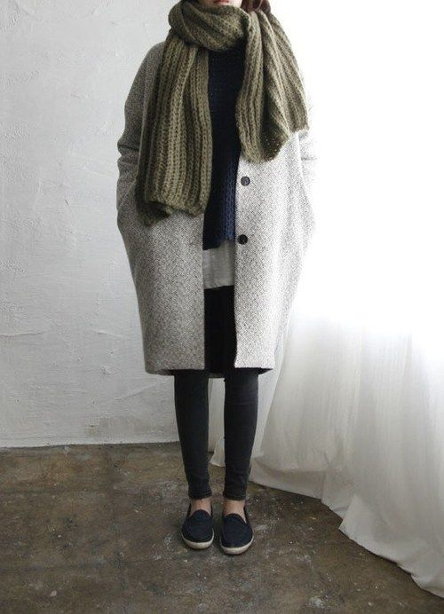 oversized coat + scarf                                                                                                                                                                                 More