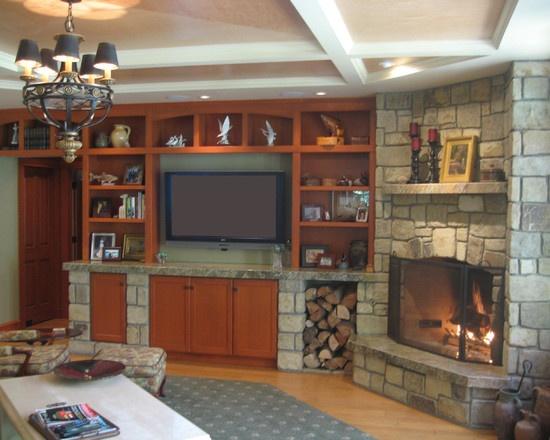Corner Fireplace...love the built in entertainment center | Room Decor |  Pinterest | Stove, Wood stoves and Fireplaces - Corner Fireplace...love The Built In Entertainment Center Room