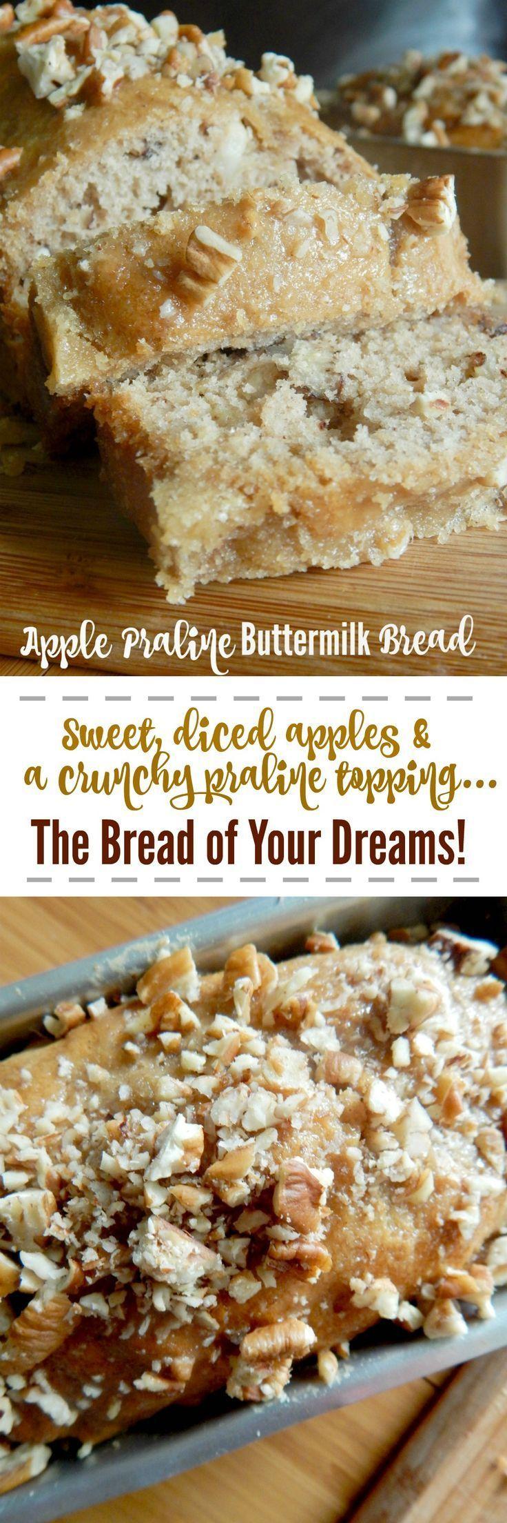 Apple Praline Buttermilk Bread
