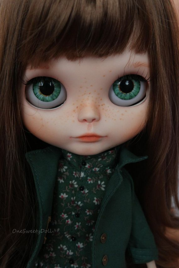 Millie brown hair RBL Blythe factory custom OOAK by OneSweetyDoll