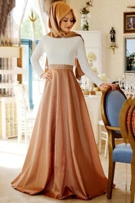 Gamze Polat Gold Tuana Abiye Elbise