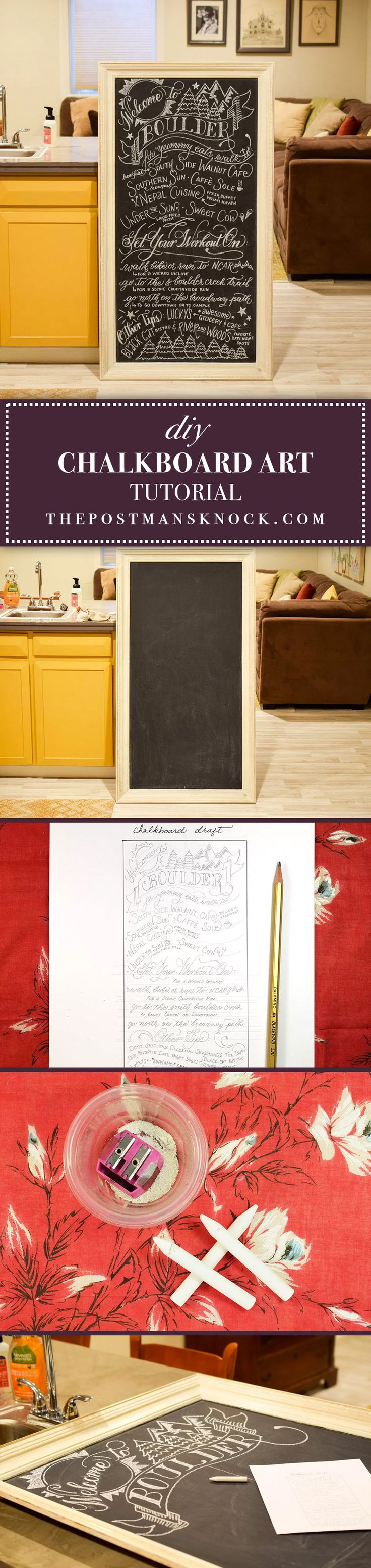 DIY Chalkboard Art Tutorial