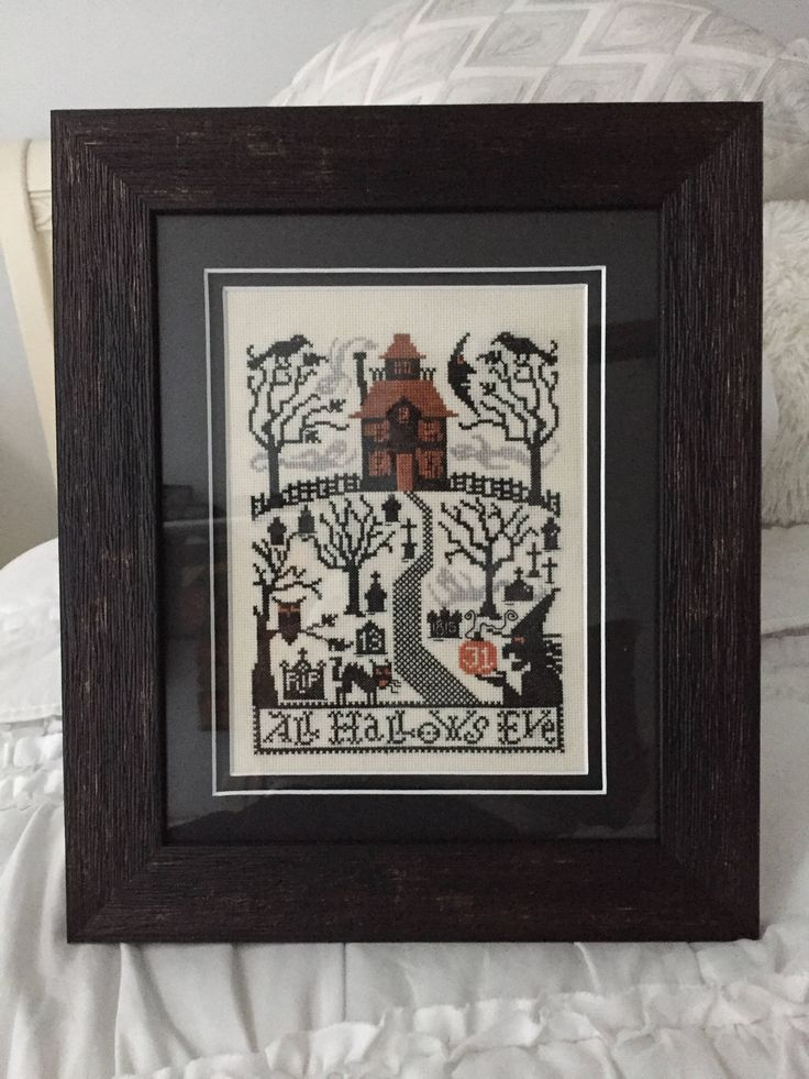 All Hallows Eve, vintage cross stitch by BewitchinStitching on Etsy