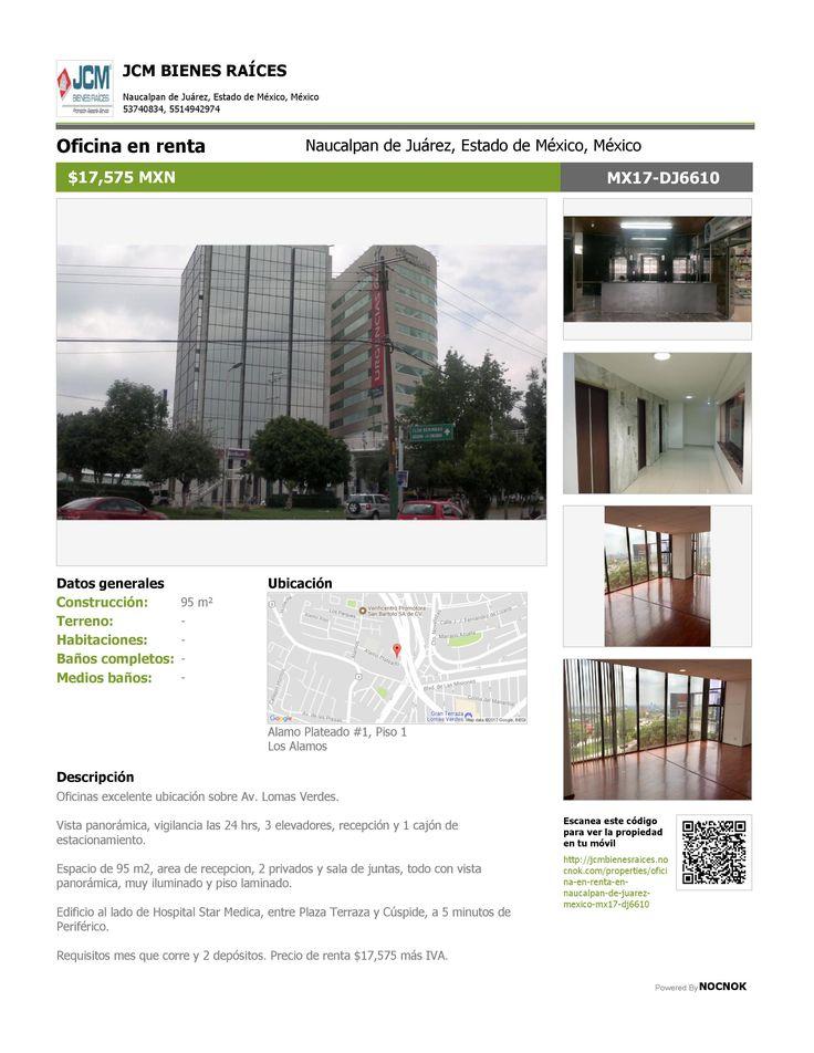 MX17-DJ6610 Oficina en renta en Los Álamos, Naucalpan de Juarez, Estado de México, Mexico. $17,575 ¡Llamanos! (55) 53740834