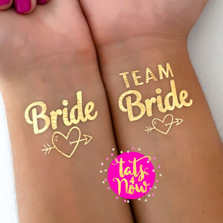 Fun bachelorette idea | Bachelorette tattoos | Bachelorette favor | Bridesmaid gift | Hens party idea | Gold tattoo