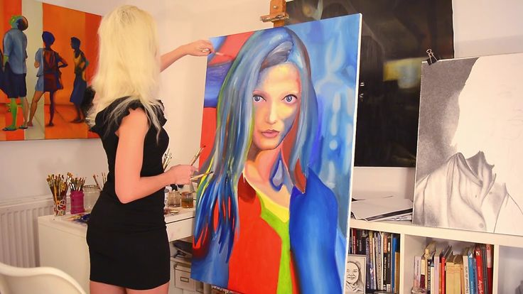 """Step by step, speed oil painting of """"I dreamed a thousand years"""" by Oana..."""