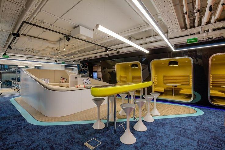 ABD architects анонсировали свой новый большой проект, в котором NAYADA также приняла участие - офис в морском стиле «Avito Яхта» Яхта — это образец рационального проектирования, где каждый кубический сантиметр пространства осмыслен и функционален, что вполне актуально и для офисного пространства.