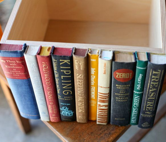 Modern Library Storage Bin, so clever! Uncovet.com