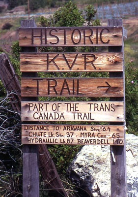 Historic KVR Trail - Okanagan Valley.
