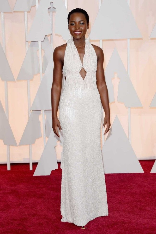 Million dollar baubles: the most expensive jewellery at the 2015 Oscars  : Lupita Nyong'o The 6,000 pearls used to make her custom Calvin Klein Collection dress (basically a piece of jewellery in itself) cost $190,409 alone.