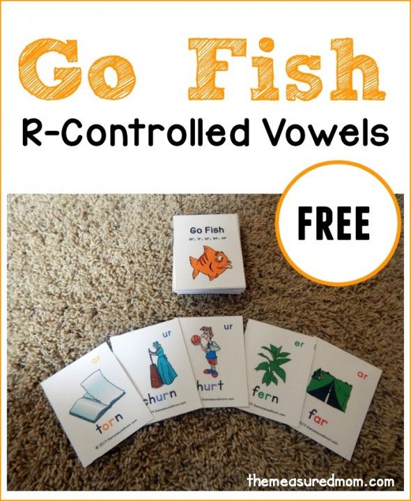 We love this free game for learning words with r controlled vowels.  Just print these cards and play Go Fish!