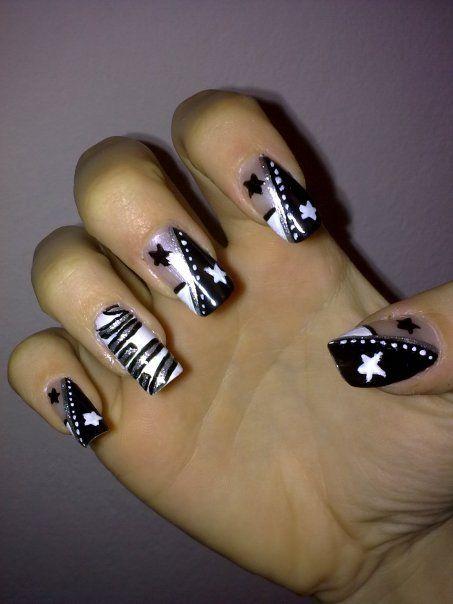 Trending Acrylic Nail Art for 2012