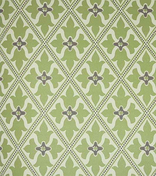 Bayham Abbey Wallpaper Green And Beige Wallpaper With