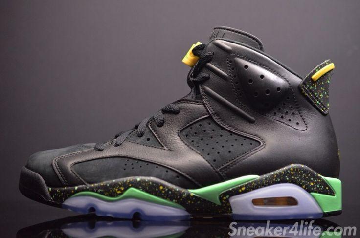 Hot Sale Nike Air Jordan 6 Cheap sale Glow Brazil World Cup