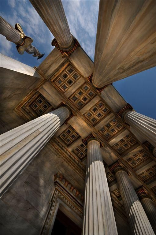 "Greece; ""Under the entrance of the Athens Academy - Chris Panagiotidis""  researched by Nefeli Aggellou"