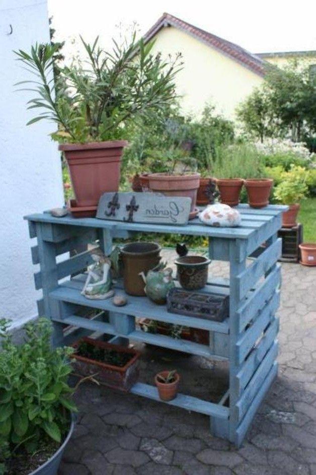 Gartendekoration Gro Es Paletten Gartenregal Bauanleitung