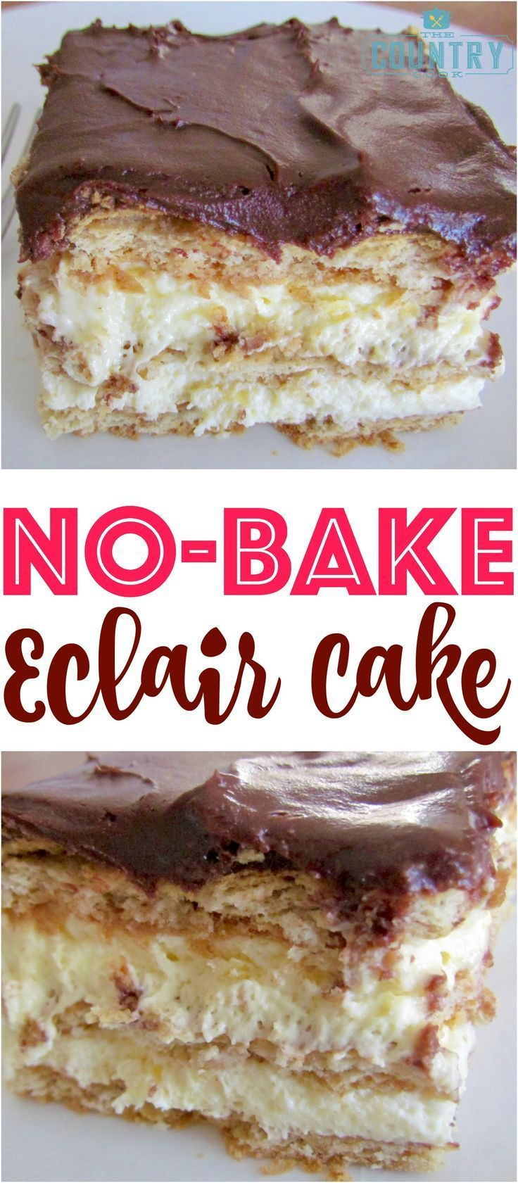 No-Bake Eclair Cake is a dessert that is so easy to make but the flavors come together and make the most impressive and yummy dessert ever!