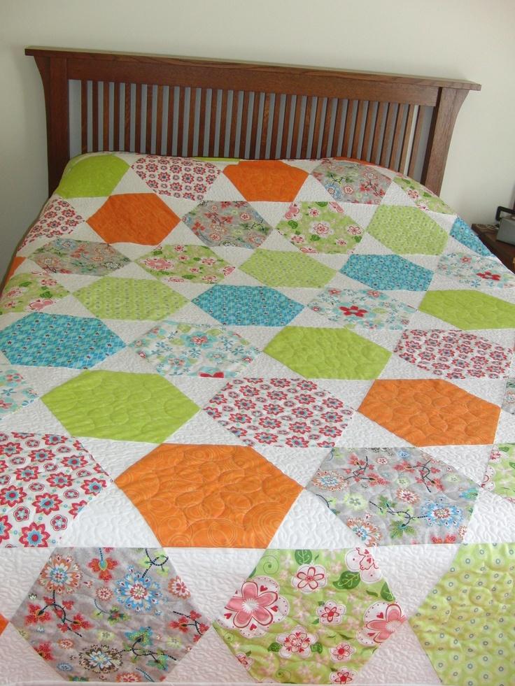 Gabrielle's hexagon quilt