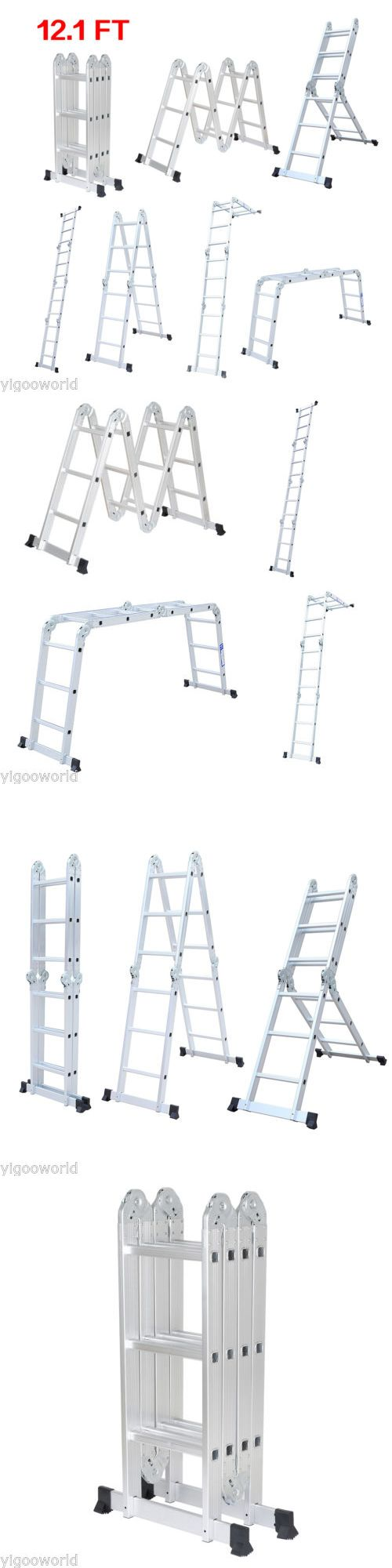 Ladders 112567: Folding 12.1Ft Aluminum Multi Purpose Ladder Step Platform Scaffold Extendable -> BUY IT NOW ONLY: $50.04 on eBay!