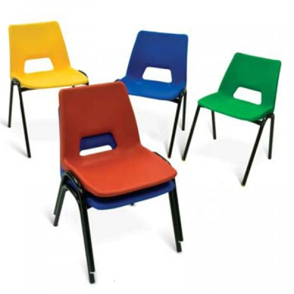 Discount Classroom Furniture Education Quality School Chairs In  Polypropylene With Metal Frame. Tables Available To Match.