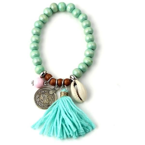 Bohemian Beads combined with the Elegance of Seashells and Tassels represents the Calm, Peace and Love we have in our lives. Wear it with Love wherever you go.