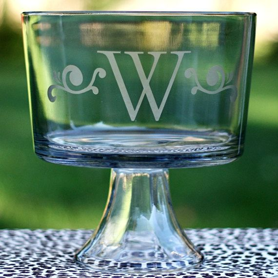 Custom Etched Trifle Bowl 20 00 Via Etsy Gifts