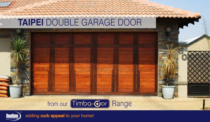 Bali inspired double sectional garage door from our Timba-dor™ Range. Visit www.doorzonesa.com