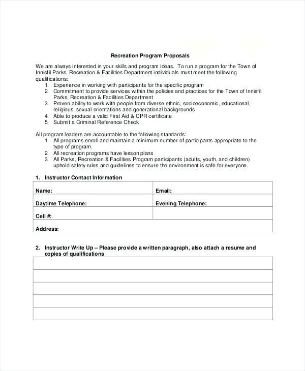 Image Result For Program Proposal Example Proposal Templates