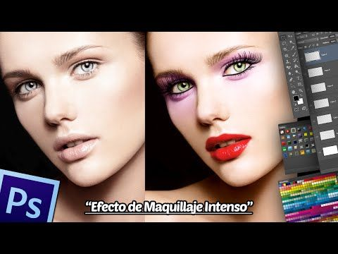 ▶ Retoque Fotográfico Maquillaje Intenso en Photoshop. - YouTube