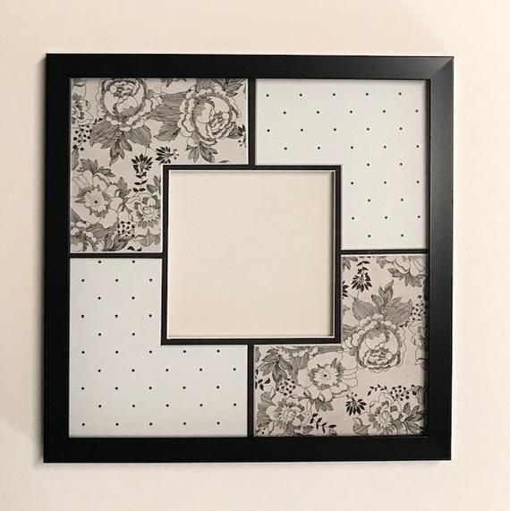 Black And White Floral Dots Design Etsy Photo Matting Photo Frame Gallery Dots Design