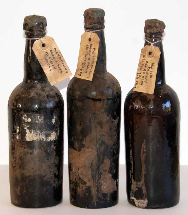 "Army and Navy Stores Whisky, from the 1870s-1880s with cellar tags ""Mid 19th century Army and Navy old Liqueur Whisky"""