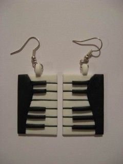 cute earrings perfect for christmas gifts polymerclayfimo: Урок-Пианино