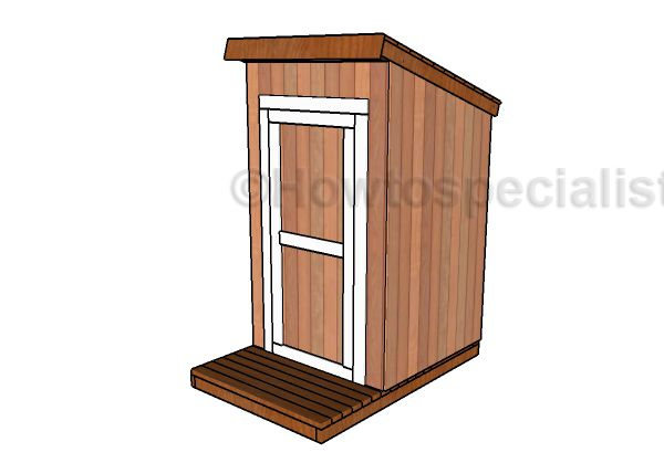 Free Outhouse Plans Howtospecialist How To Build Step By Step Diy Plans Building An Outhouse Diy Plans Shed Plans