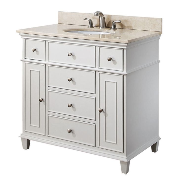 Picture Collection Website Avanity Windsor inch White Traditional Single Bathroom Vanity All Bathroom Vanities in Bathroom Vanities Kitchen and Bath Warehouse