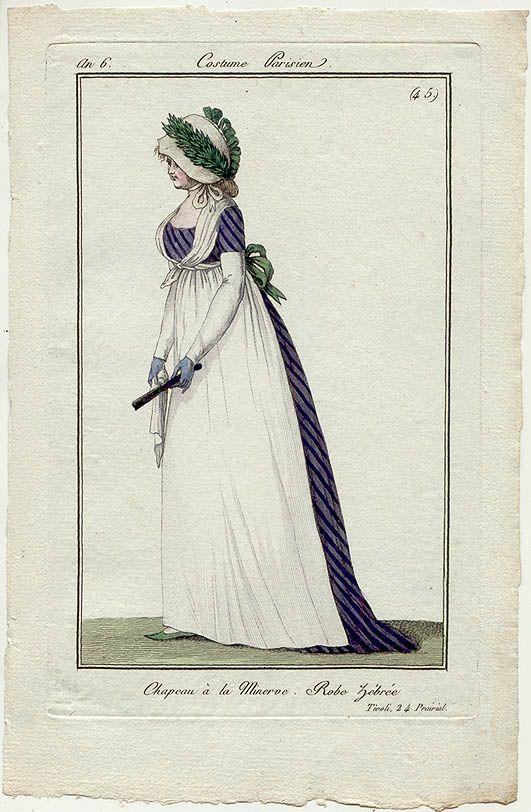 Nr 45 1797 -- Robe Zebree  --- Zebra Striped Gown!