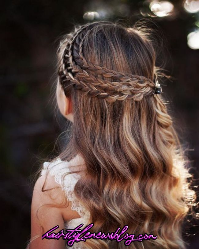 19 Brilliant Kids Hairstyle For Going School Hair Styles Braided Hairstyles Flower Girl Hairstyles In 2020 Hair Styles Girls Hairstyles Easy Little Girl Hairstyles