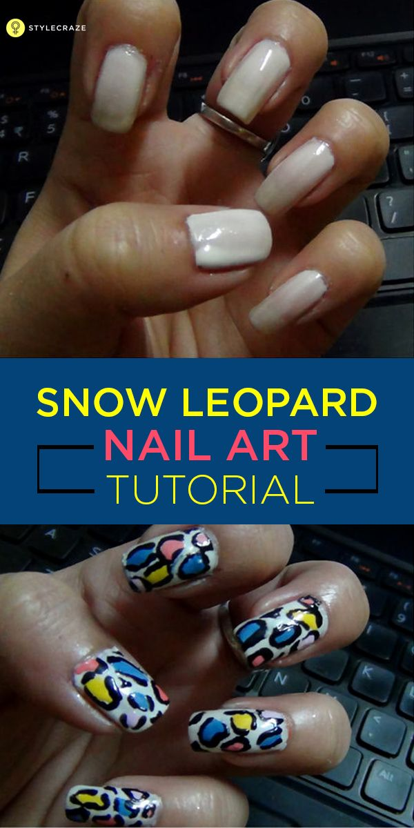 I present to you a beautiful and very easy snow leopard nail art. You don't even need a nail art designs brush for this.  So let's get started with the Snow Leopard Nail Art Tutorial.