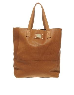 river island leather shopper