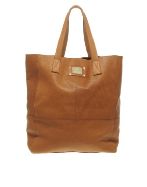 river island leather shopper