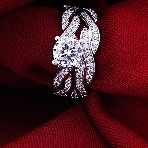 Amazon.com: Jewelrypalace Women's 1.5ct Infinity Cubic Zirconia CZ Solid 925 Sterling Silver Wedding Band Anniversary Engagement Ring Set: Jewelry