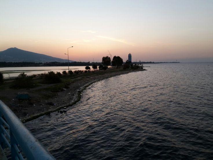 İnciraltından gün batımı manzarası
