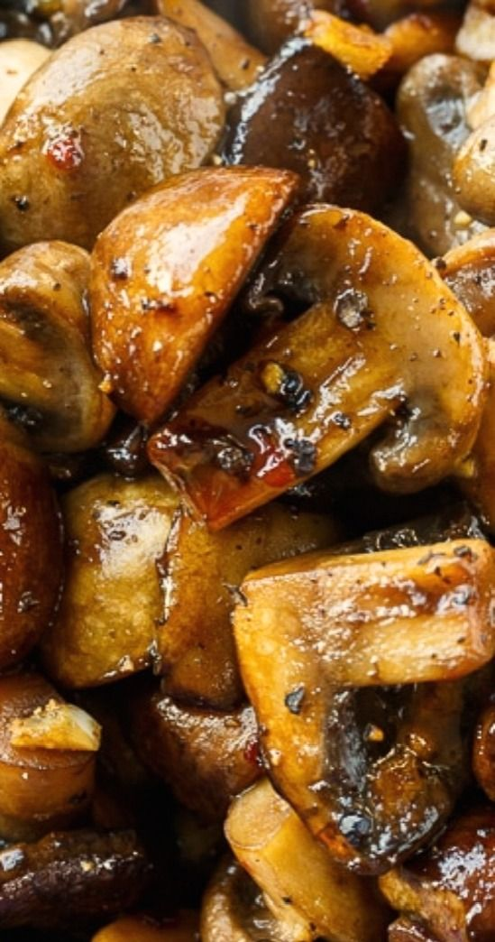 Balsamic Mushrooms.