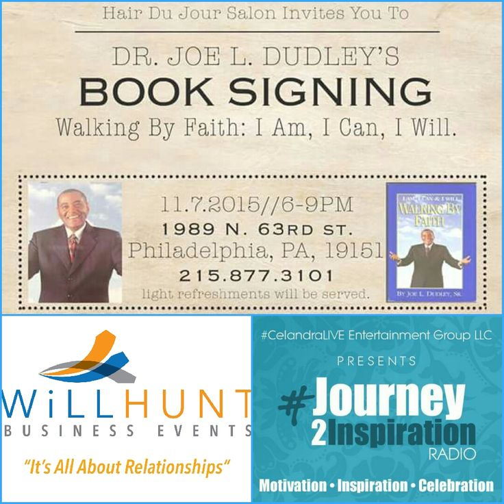 "WJTI LIVE Broadcast @ ""I AM I CAN I WILL""Conference with Dr. Dudley of famed Dudley Hair Products! You've been invited to the kick off event which takes place @ Hair Du'Jour Salon 1989 N. 63rd St, Philadelphia PA @ 6PM ▪ Kim Williams-Hunter of willhuntbusinessevents.com ▪ FB @WillHunt Business Events! Listen by Downloading the Free TuneIn.com app & simply search WJTI Journey to Inspiration!"