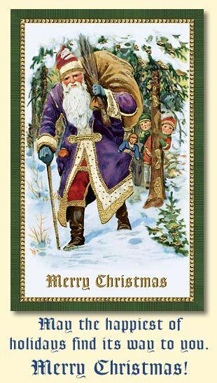 Старинные рождественские открытки | Православие и мир
