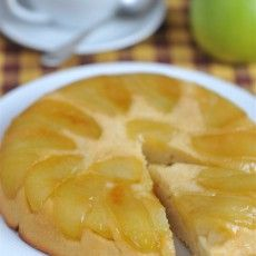 Яблочный тарт татен на сметанном тесте
